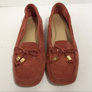 Michael Michael Kors rust color suede loafers, 9